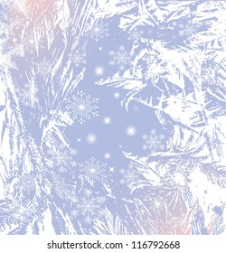 abstract image of winter frost as background