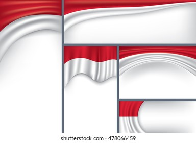 Abstract Indonesia Flag, Indonesian Colors (Vector Art)