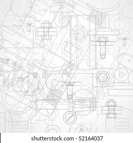 Abstract industrial background, vector illustration.