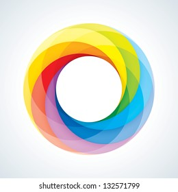 Abstract Infinite Loop Logo Template. Corporate Icon. 7 Pieces Shape. EPS10