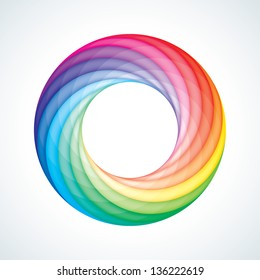 Abstract Infinite Loop Sign Template. Corporate Icon. 12 Pieces Shape. EPS10