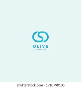 abstract infinity letter os logo design template