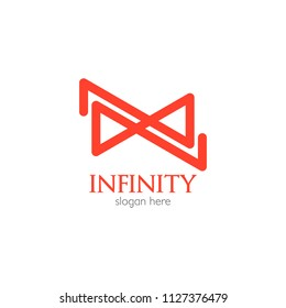 Abstract infinity logo template design. Endless symbol and icon, modern clean style vector illustration