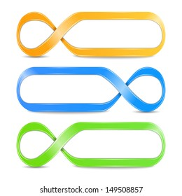 Abstract infinity symbols, vector eps10 illustration