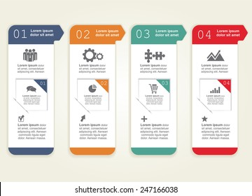 Abstract infographic. Can be used for workflow layout. Vector illustration Eps8.