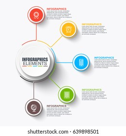 Abstract infographic data visualization vector design template. Can be used for steps, options, business processes, info graphics, workflow, diagram, flowchart concept, timeline, marketing icons.