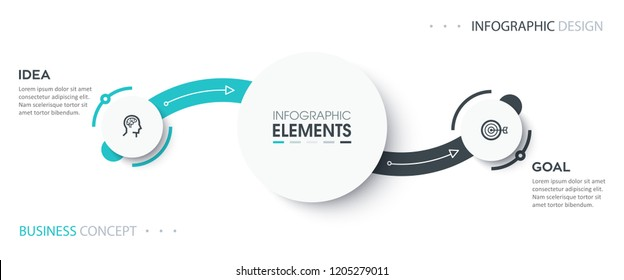 Abstract Infographic design template with icons and 2 options or steps. Business concept.  Can be used for process diagram, presentations, workflow layout, banner, flow chart, info graph.