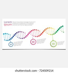 Abstract infographic DNA ,can be used for workflow layout, diagram, number options