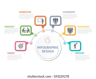 Abstract Infographic number options. Business overview visualization. Business template for presentation. Vector infographics.