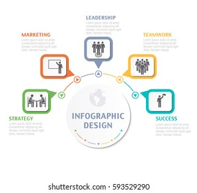 Abstract Infographic number options. Business overview visualization. Business template for presentation. Vector infographics