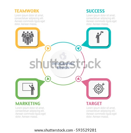 abstract infographic number options business overview stock vector
