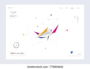 Abstract Infographics Concept. Vector illustration