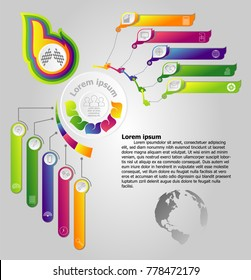 Abstract infographics design vector and marketing icons can be used for workflow layout, diagram, annual report, web design. Business concept with 5 options, steps or processes.