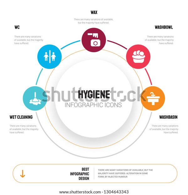 Abstract Infographics Hygiene Template Wet Cleaning Stock Vector