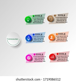 Abstract infographics number options template. Vector illustration. Can be used for workflow layout, diagram, business step options, banner, web design. Business data visualization. Process chart.