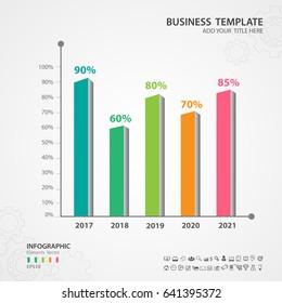 Abstract infographics number options template, Vector illustration, Rectangular rods 3d icon, presentation, diagram, advertisment, Process chart, business flyer, banner design, web design, timeline