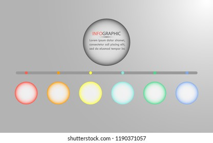 Abstract infographics options template. Vector illustration. Can be used for workflow layout, diagram, business step options, banner, web design.