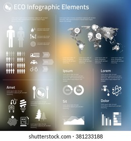 Abstract infographics template of human issues and ecological problems