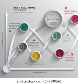 Abstract infographics. Vector template data presentation indicators. Creative design.