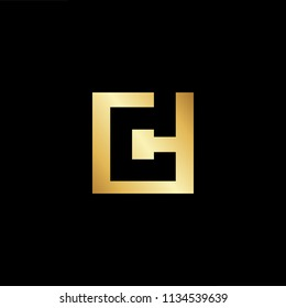 Abstract initial letter CD DC. minimal awesome trendy professional logo design template. Vector letter logo with gold and black color.