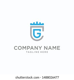 Abstract initial letter CG GC, minimal awesome professional logo design template - Vector