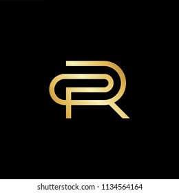 Abstract initial letter CR RC. minimal awesome trendy professional logo design template. Vector letter logo with gold and black color.