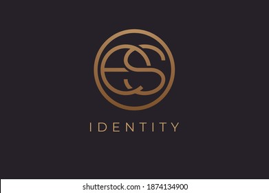 Abstract initial letter E and S logo, usable for branding and business logos, Flat Logo Design Template, vector illustration