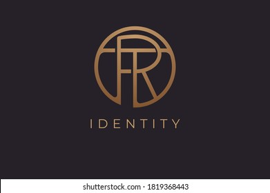 Abstract initial letter R and T logo,usable for branding and business logos, Flat Logo Design Template, vector illustration