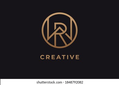 Abstract initial letter R and W logo,usable for branding and business logos, Flat Logo Design Template, vector illustration