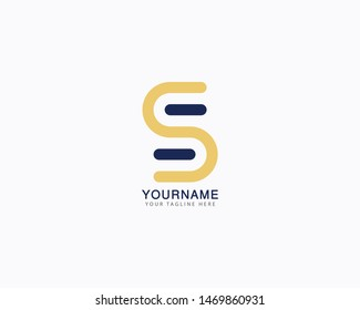 Abstract initial letter S logo design concept
