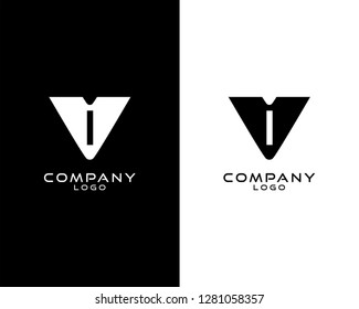 Abstract Initial letter vi/iv company logo design template. vector logo for company