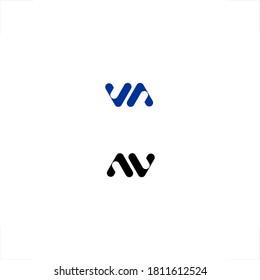 abstract initial VA AV letter design modern logo