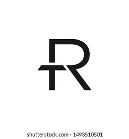 Abstract Initials TR/RT logo design inspiration