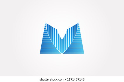 Abstract initials VM. Vector logo