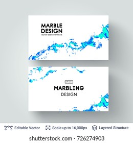 Abstract ink background. Marble style. Liquid splashes on white. Vector template easy to edit.