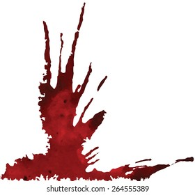Abstract ink stains. Art vector background. Elements for creative design.