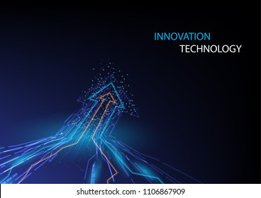 Abstract innovation and technology concept with arrow design concept background. Vector illustration.