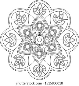 Abstract intricate pattern design vector