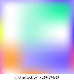 Abstract iridescent pastel violet, yellow blurred background, smooth gradient texture color, shiny bright website pattern, banner or graphic art image -  Multicolor Vector Illustration.