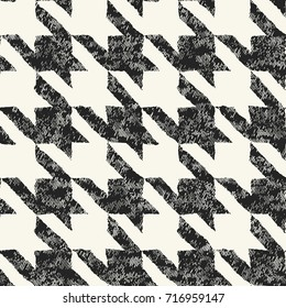Abstract irregular dyed houndstooth check. Seamless pattern.