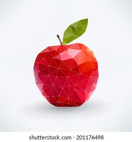 Abstract isolated apple fruit Vector fruit concept - organized layers