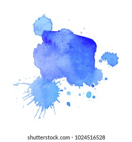 Abstract isolated colorful vector watercolor stain. Grunge element for paper design. Vector illustration