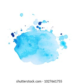 Abstract isolated colorful vector watercolor stain. Grunge element for paper design. Vector illustratio