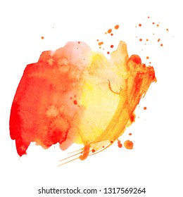 Abstract isolated colorful vector watercolor splash.
