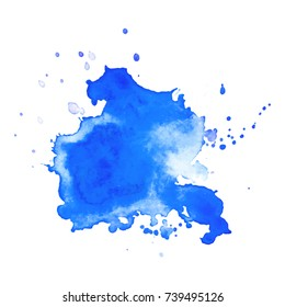 Abstract isolated watercolor hand drawn paper texture stain on white background for text design, web, label. Vector element for card, backdrop, tag