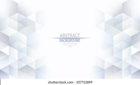 Abstract Isometric Shape Background for Business / Web Design / Print / Presentation, 16:9 aspect ratio