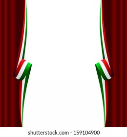 Abstract Italian, Mexican, Hungarian and Iranian curtain flag