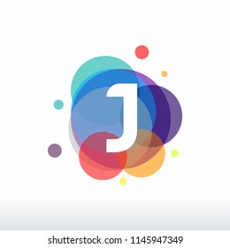 Abstract J Initial logo designs concept vector, Colorful J initial logo designs