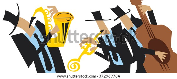 Abstract Jazz Art Jazz Band Event Stock Vector Royalty Free