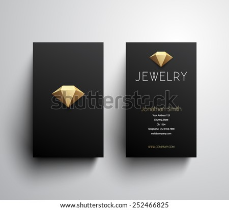 Abstract jewelry business card template clean stock vector royalty abstract jewelry business card template clean and modern style design logo logotype wajeb Choice Image